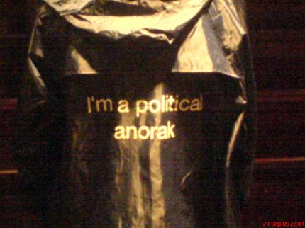 I'm a political anorak