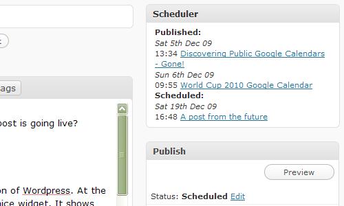 Schedule Planner Screenshot